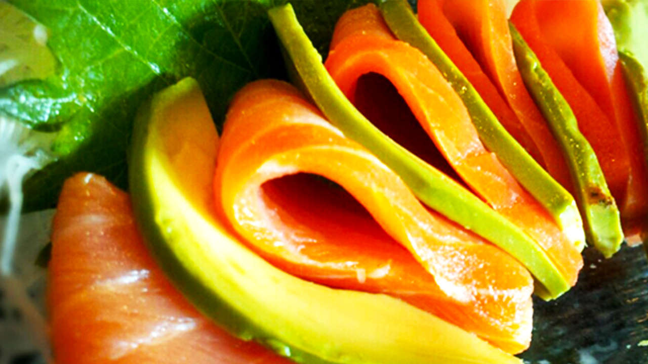 Avocado with smoked salmon