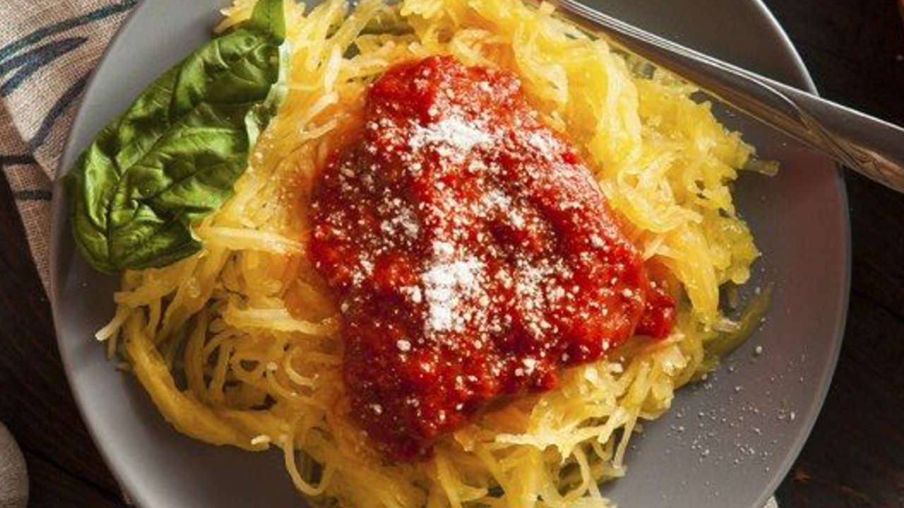 Rice spaghetti WITH vegetable bolognese