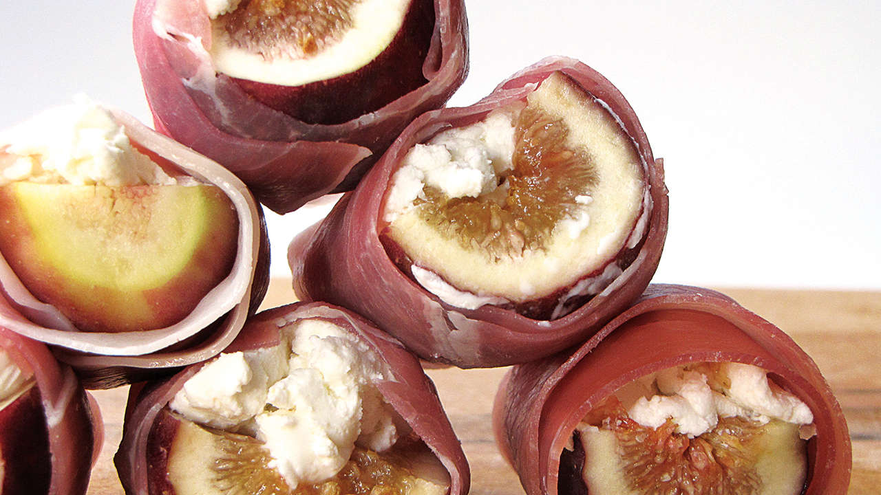 Figs and Goat Cheese in Iberian Ham