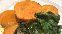 Sweet potato with swiss chard