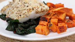 Cod with sweet potato