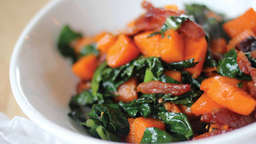 Sweetpotato and bacon bowl