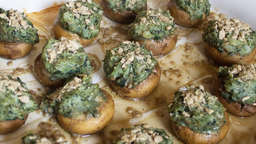 Portobello with kale and goat cheese