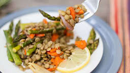 Lentil salad with lemon-rosemary vinaigrette