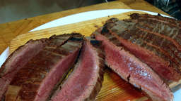 Grilled entrecote steak