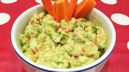 Guacamole with carrot sticks