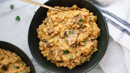 Risotto de arroz integral