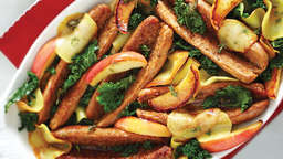 Sausage, apple and kale