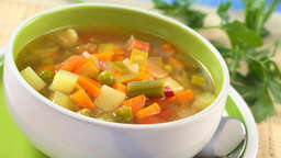 Chopped vegetable soup
