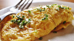 Sheep cheese omelette